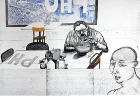 daniel heyman fall - artist eats pho
