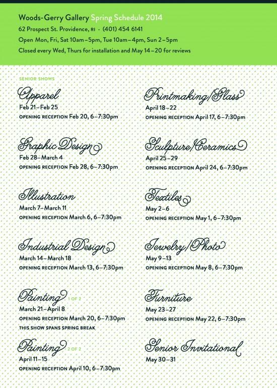 woods gerry schedule