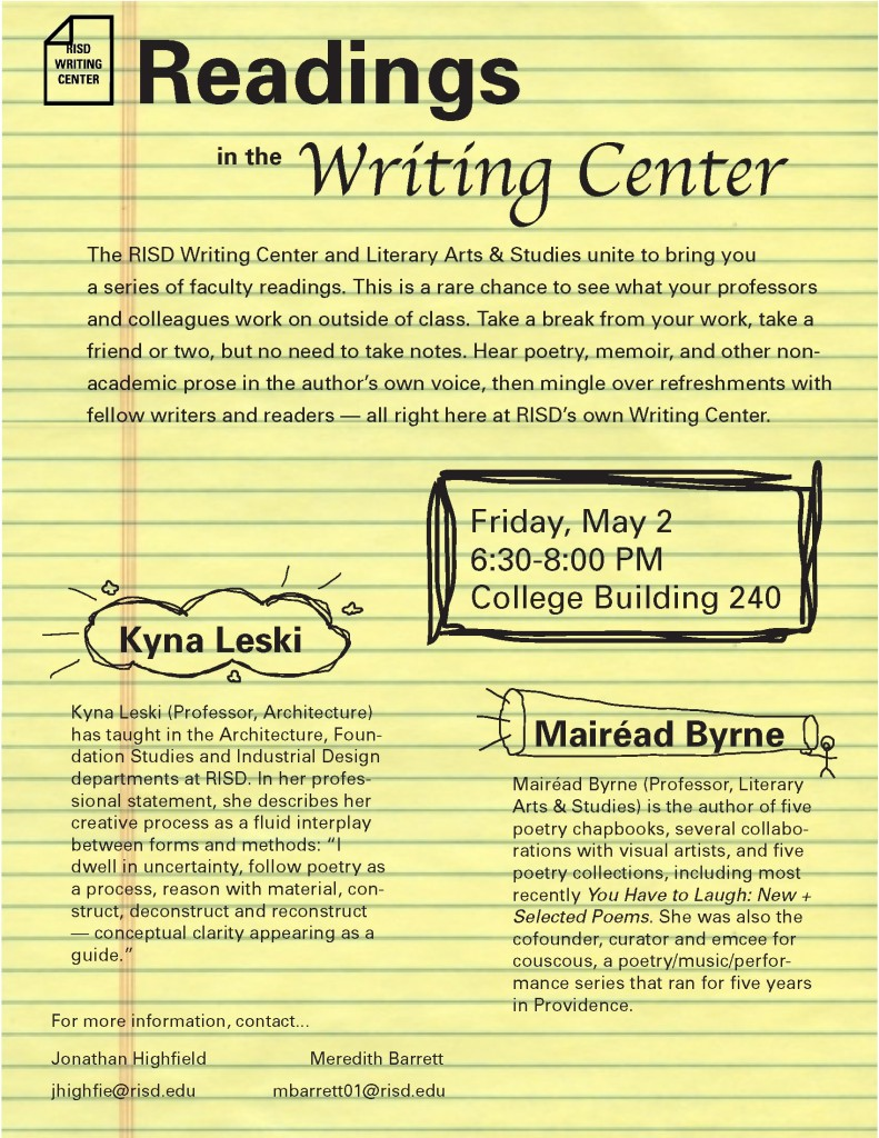 Readings May Flyer