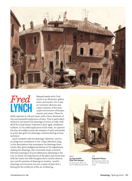 Fred Lynch (featured in Drawing Magazine, Spring Issue)