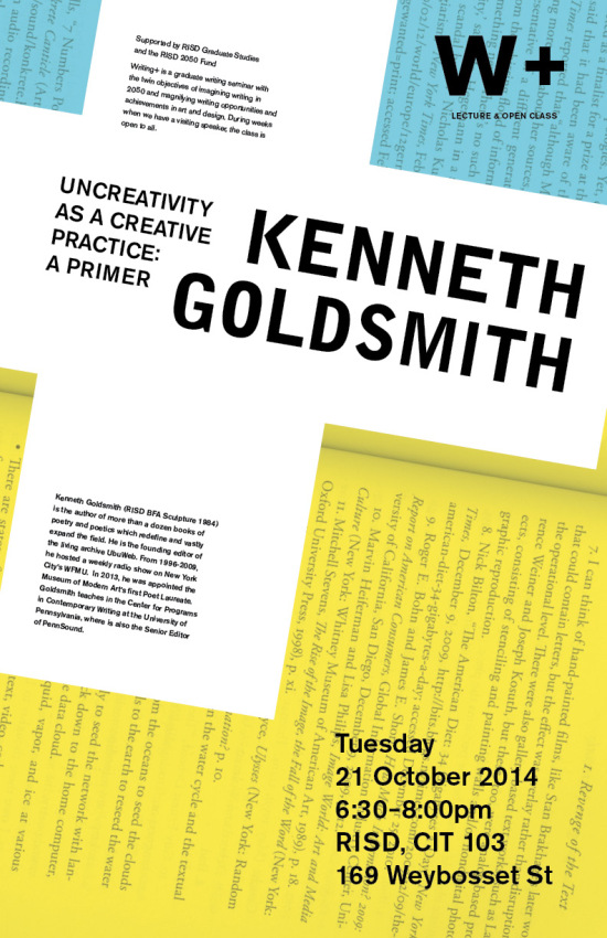 Kenneth_Goldsmith_RISD_CIT_103_Tues_10.21.14_6.30pm