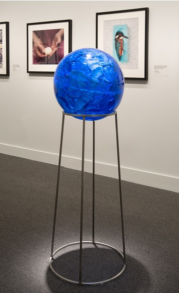 Rachel Berwick Blueshift 2014 cast crystal and metal 52 x 21 x 21 in. each