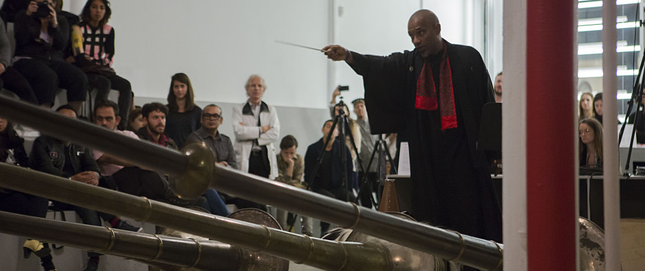 Terry Adkins, Blanche Bruce and the Lone Wolf Recital Corps perform THE LAST TRUMPET as part of the Performa Biennial 2013. Photo Courtesy of the Estate of Terry Adkins and Salon 94, New York.