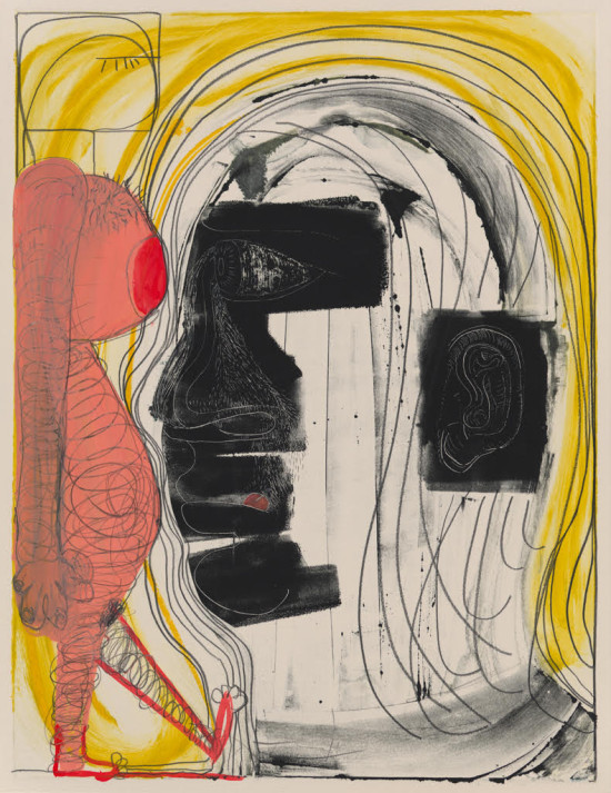 Nicole Eisenman, American, b. France, b. 1965, Untitled, 2012, Monotype Image: 58.7 x 44.8 cm (23 1/8 x 17 5/8 inches), Gift of Merrill Sherman in honor of Judith Tannenbaum 2012.127.1