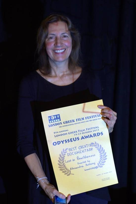 Alexandra Anthony with Odysseus Award