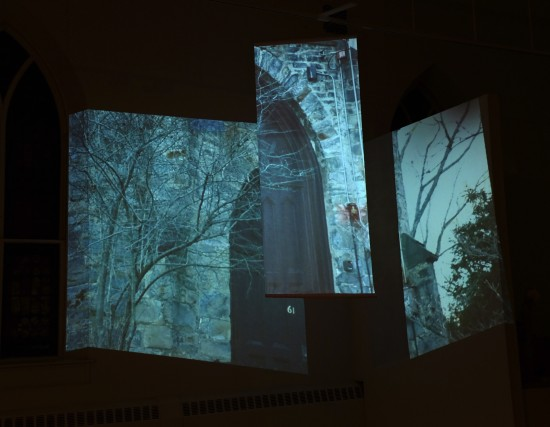 Site-responsive interactive video installation