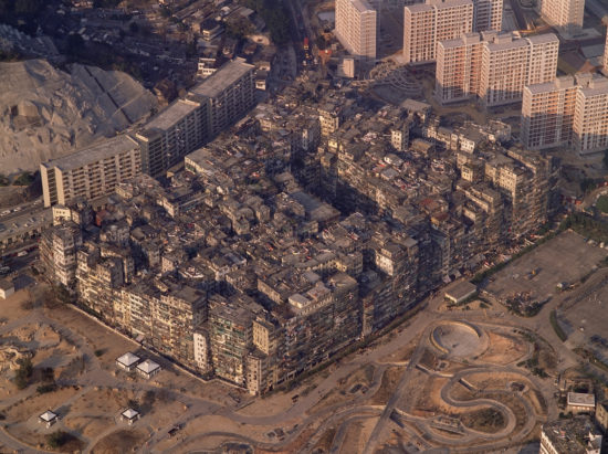 Ian Lambot, Aerial View, Kowloon Walled City, 1990 © Ian Lambot