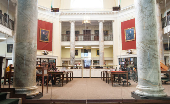 The American Antiquarian Society reading room.