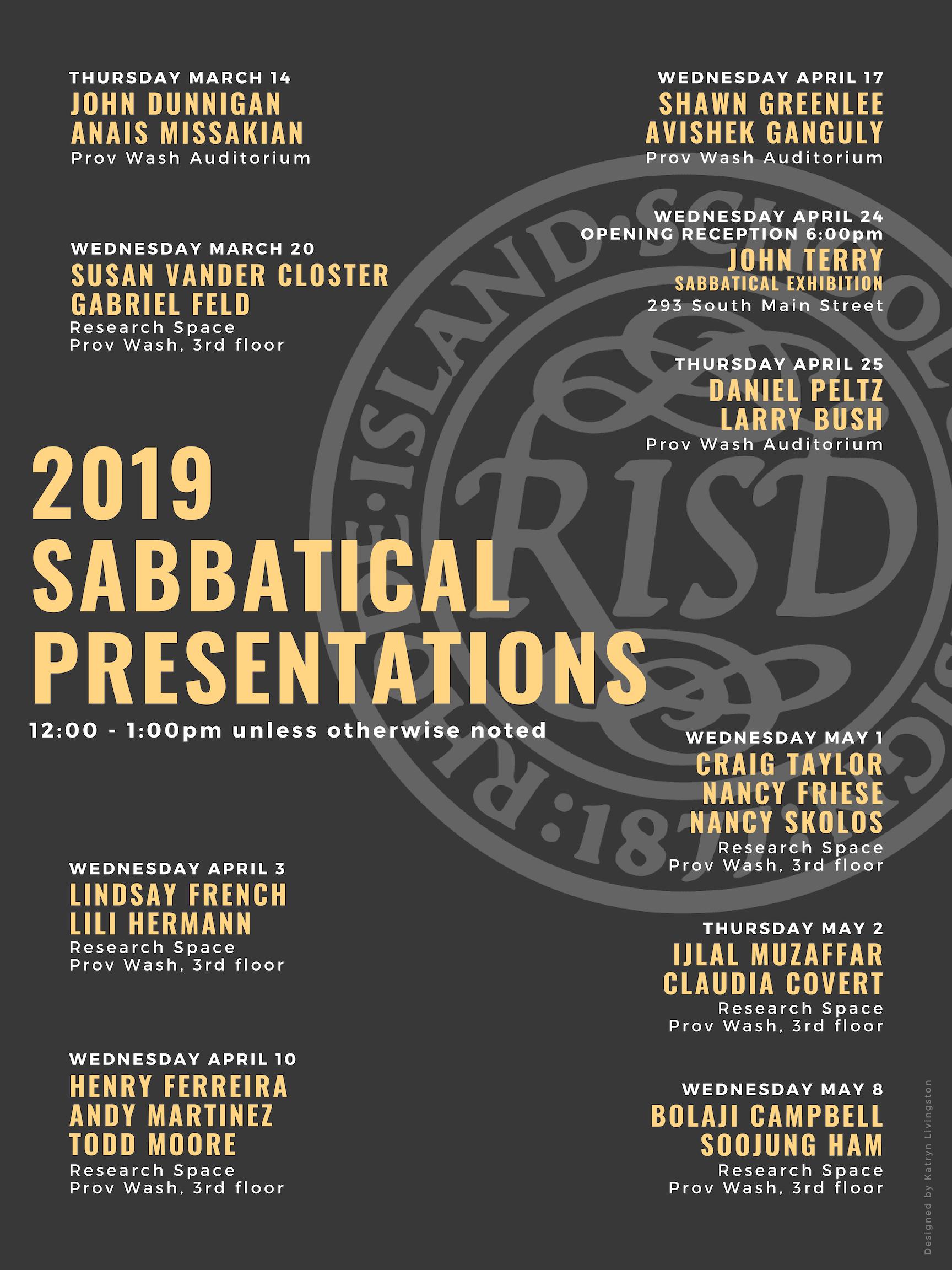 2019 Sabbatical Presentations Poster